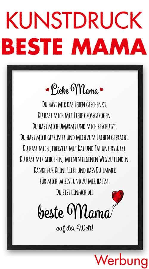 Kunstdruck Liebe Mama