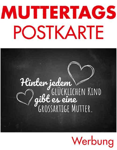 Postkarte Hinter jedem glücklichen Kind gibt es eine großartige Mutter