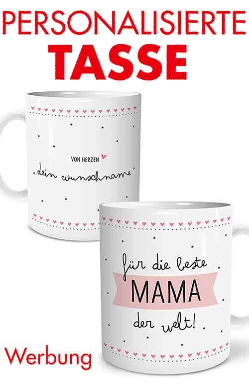 Personalisierte Tasse mit Namen für die beste Mama der Welt
