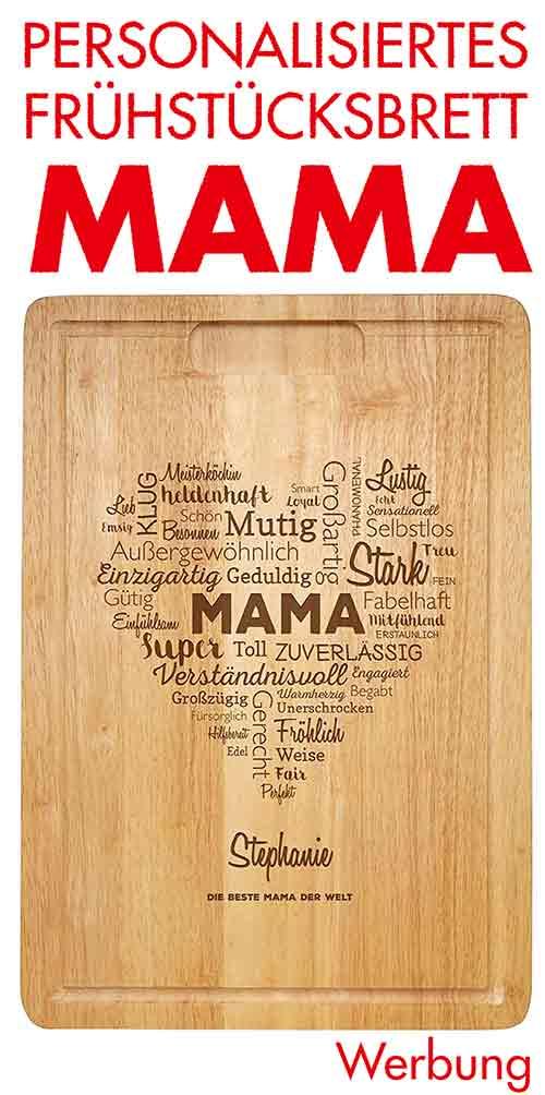 Personalisiertes Holzbrett mit Gravur Mama