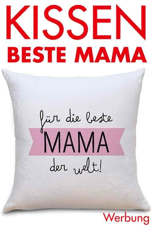 Kissen mit Aufdruck Für die beste Mama der Welt