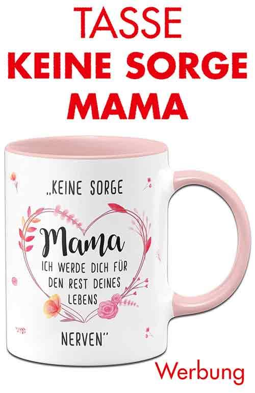 Lustige Tasse mit Spruch zum Muttertag