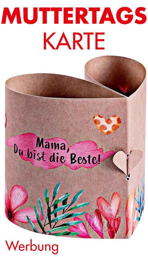 Herzförmige Muttertagskarte