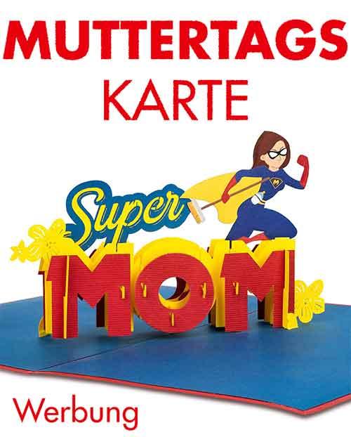 Pop Up Karte Super Mom