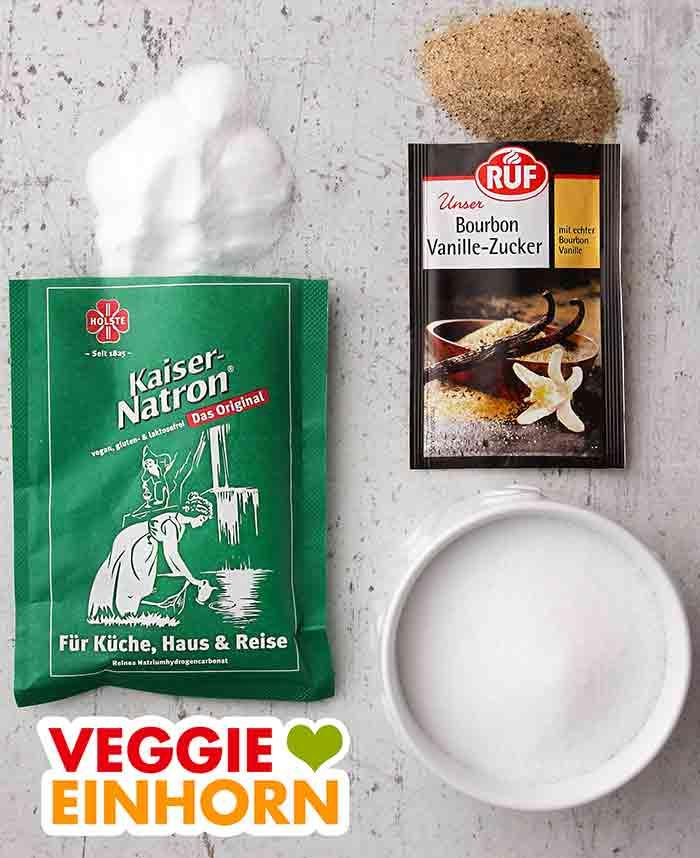 Natron, Vanillezucker und Salz