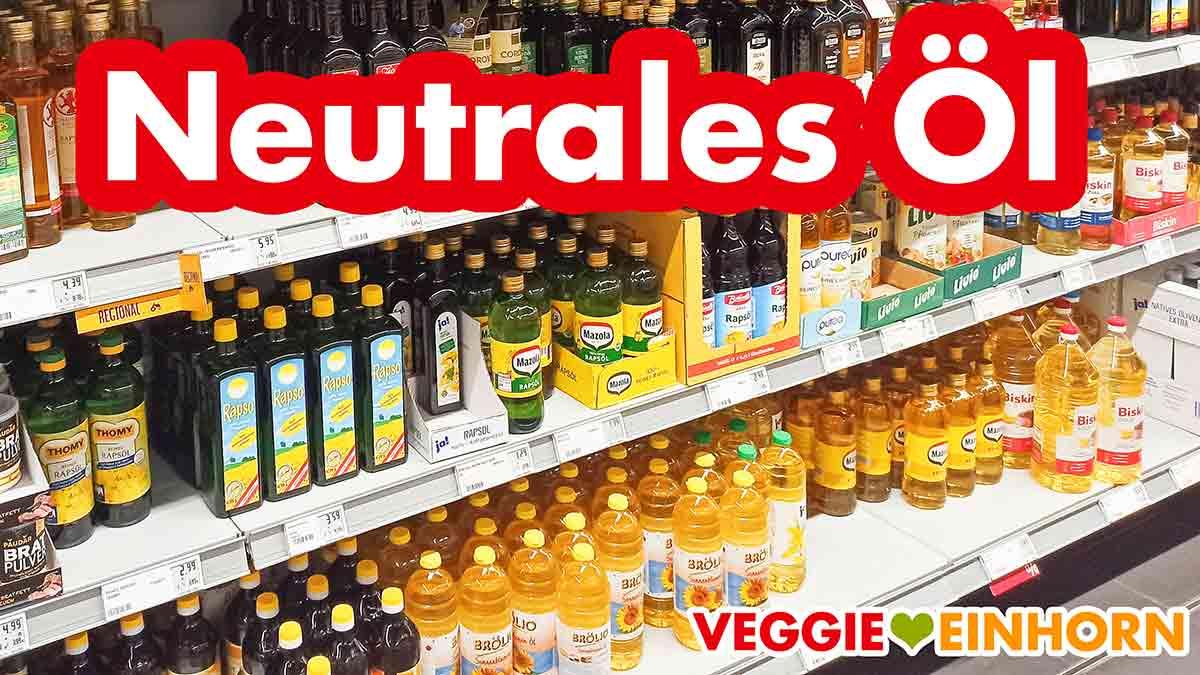 Speiseöl im Supermarkt