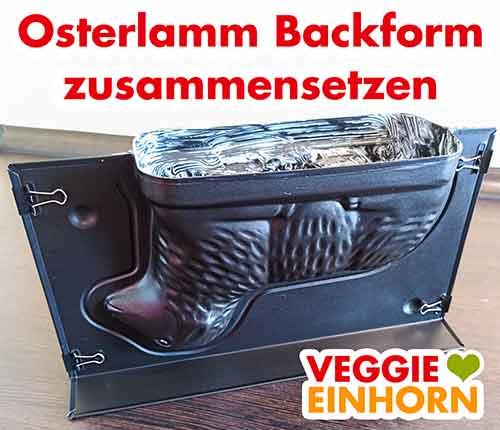 Zusammengesetze Osterlamm Backform