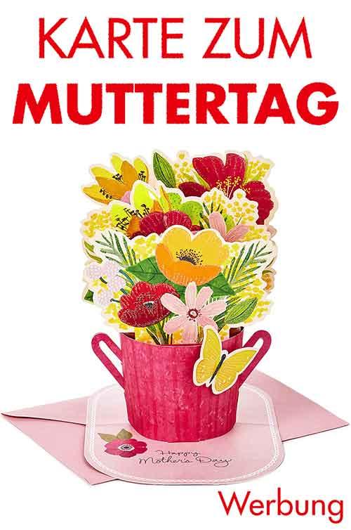 Pop Up Karte mit Blumen zum Muttertag
