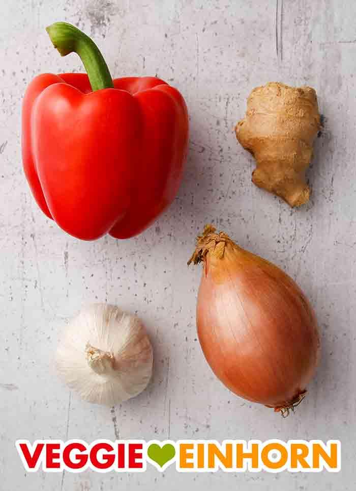Paprika, Ingwer, Knoblauch, Zwiebel