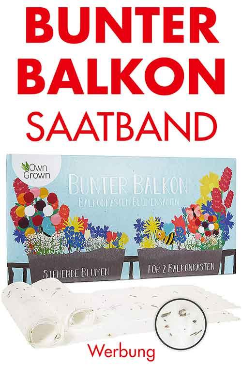Saatband für Balkon Blumen