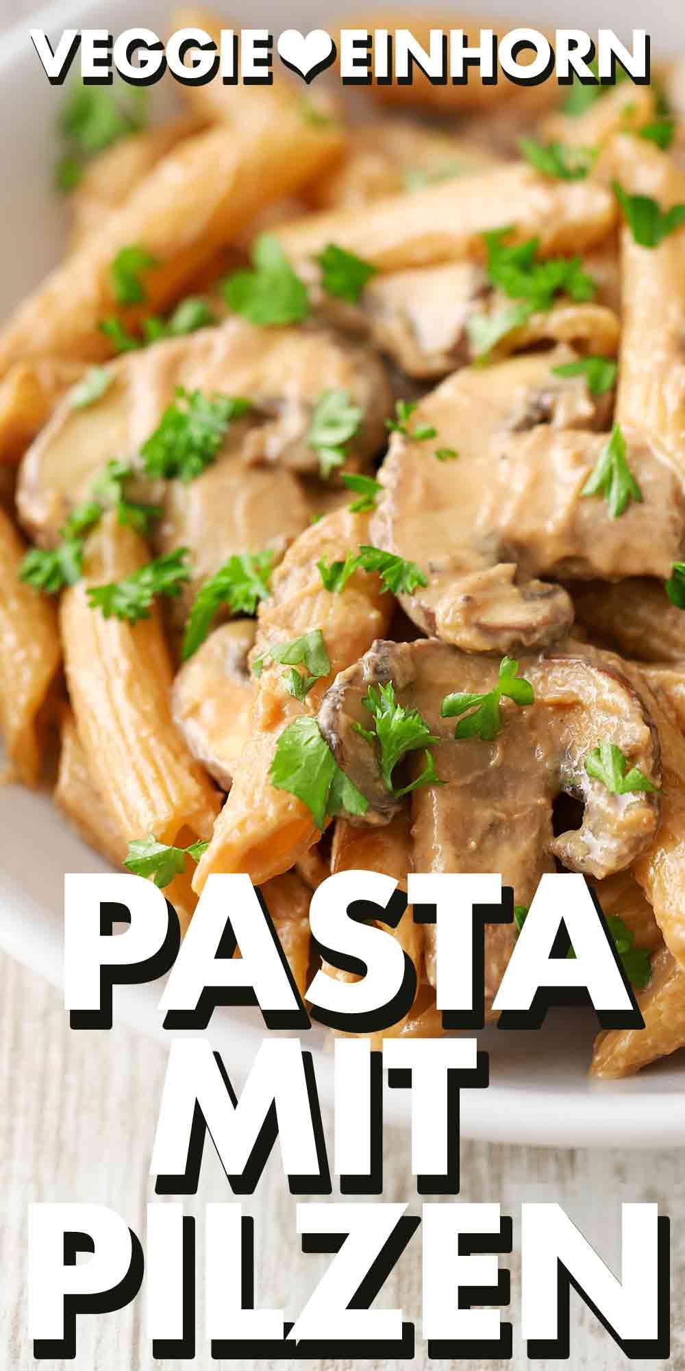 Vegane Pasta mit Champignons