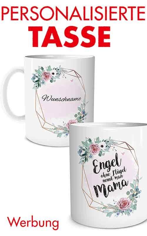 Personalisiertes Muttertagsgeschenk Tasse mit Namen