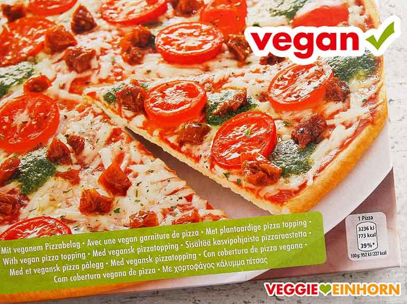 Pizza von Dr. Oetker mit veganem Pizzabelag
