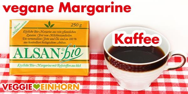 vegane Margarine und Kaffee