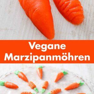 Selbst gemachte vegane Möhren aus Marzipan