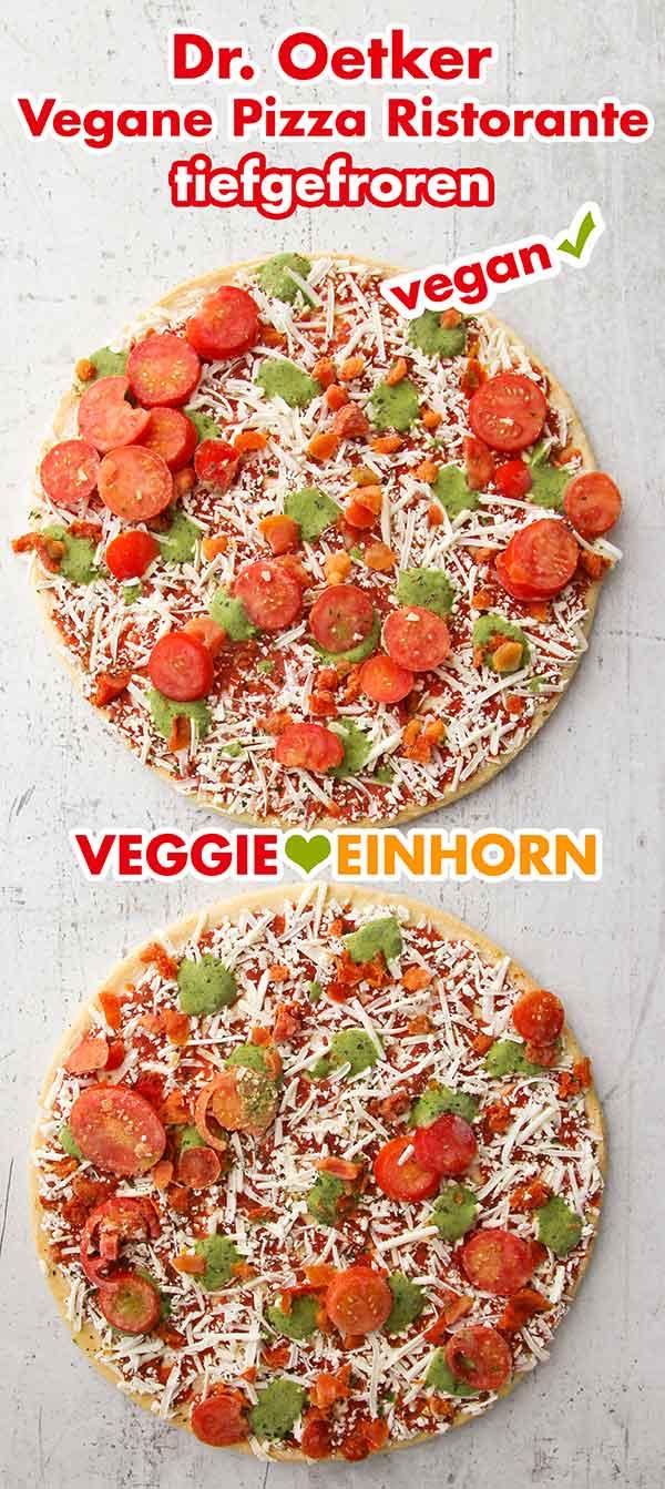 Zwei gefroerene vegane Pizzen von Dr. Oetker