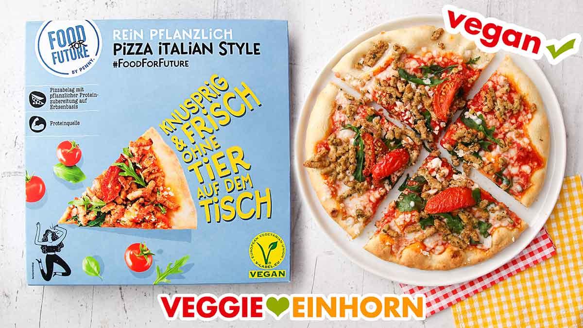 Vegane Pizza von Penny