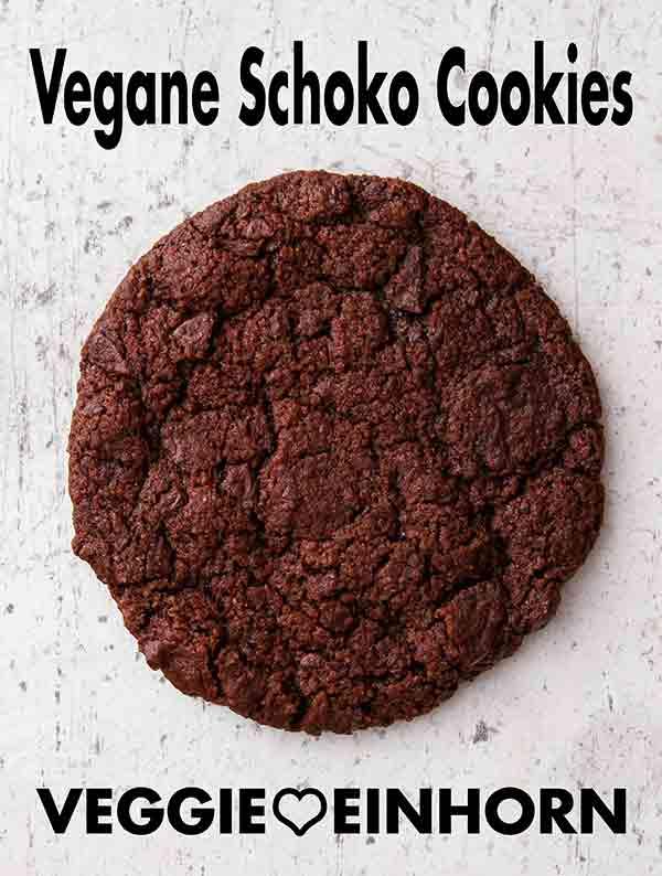 Ein veganer Double Chocolate Cookie