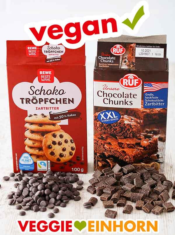 Vegane Schokotröpfchen und Chocolate Chunks