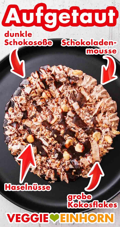 Die aufgetaute Choco Delish Torte