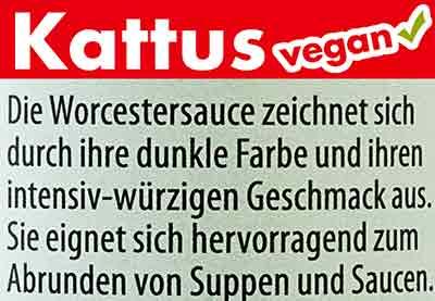 Kattus Worcester Sauce