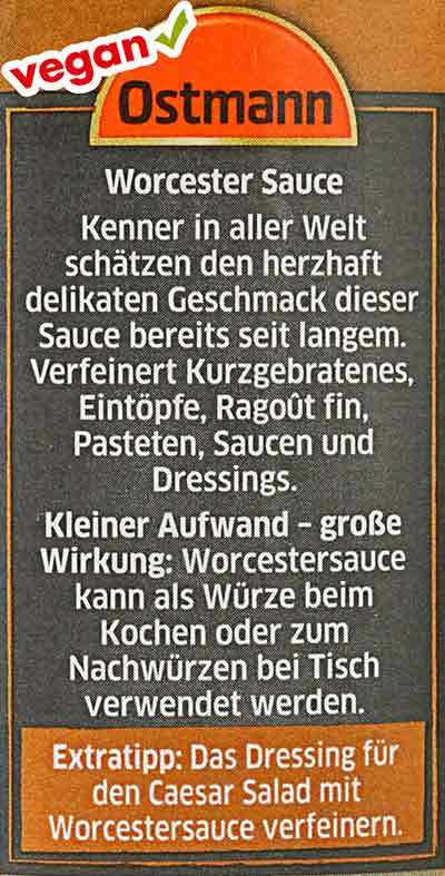 Worcester Sauce von Ostmann