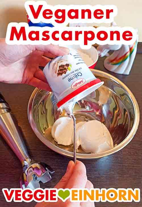 Veganer Mascarpone in der Rührschüssel