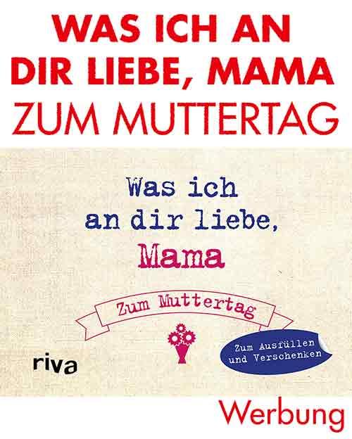Mini Ausfüllbuch Was ich an dir liebe Mama zum Muttertag