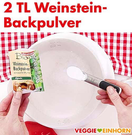 Weinsteinbackpulver