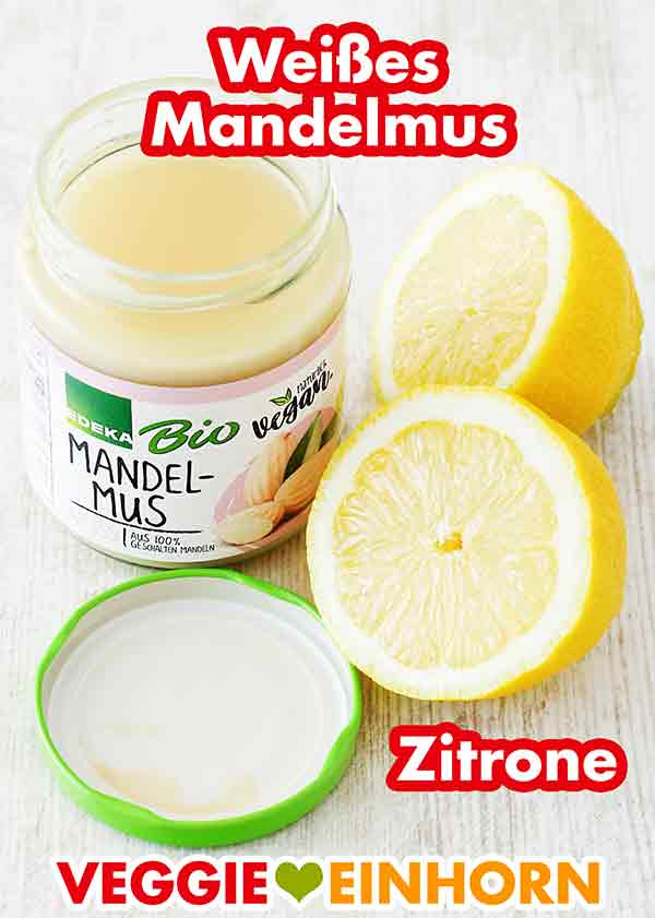 Ein Glas Mandelmus und eine Zitrone