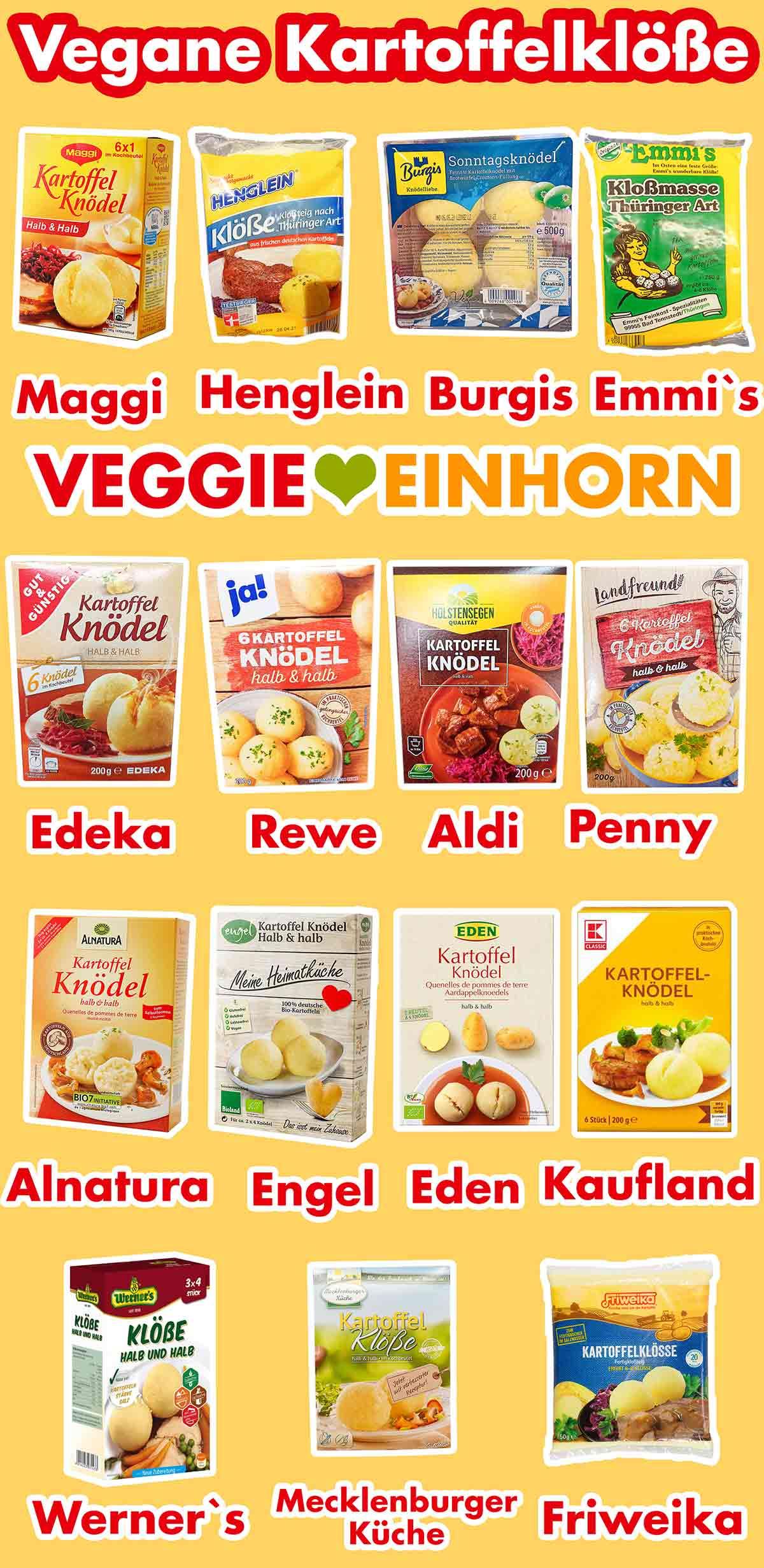Vegane Kartoffelklöße Marken
