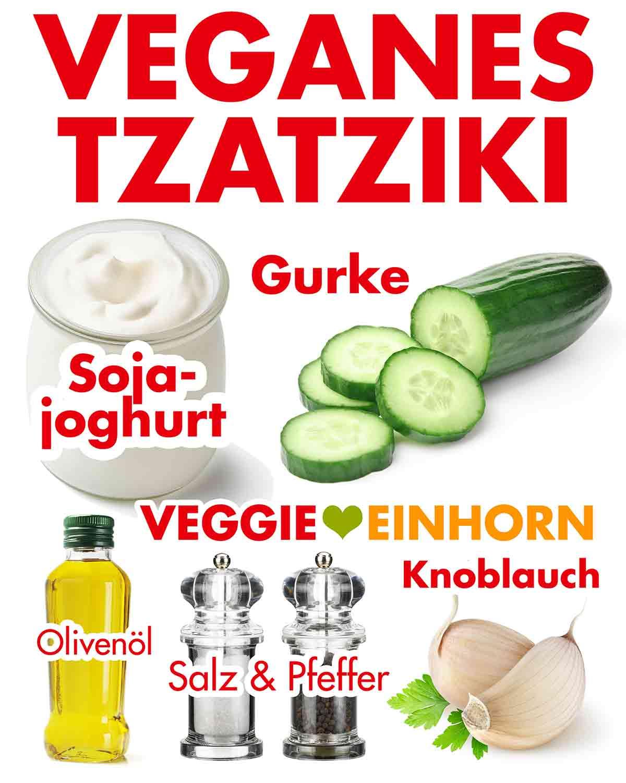 Zutaten für veganes Tzatziki