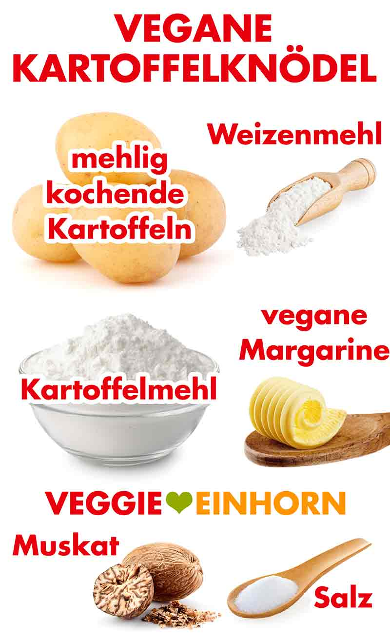 Zutaten für vegane Knödel