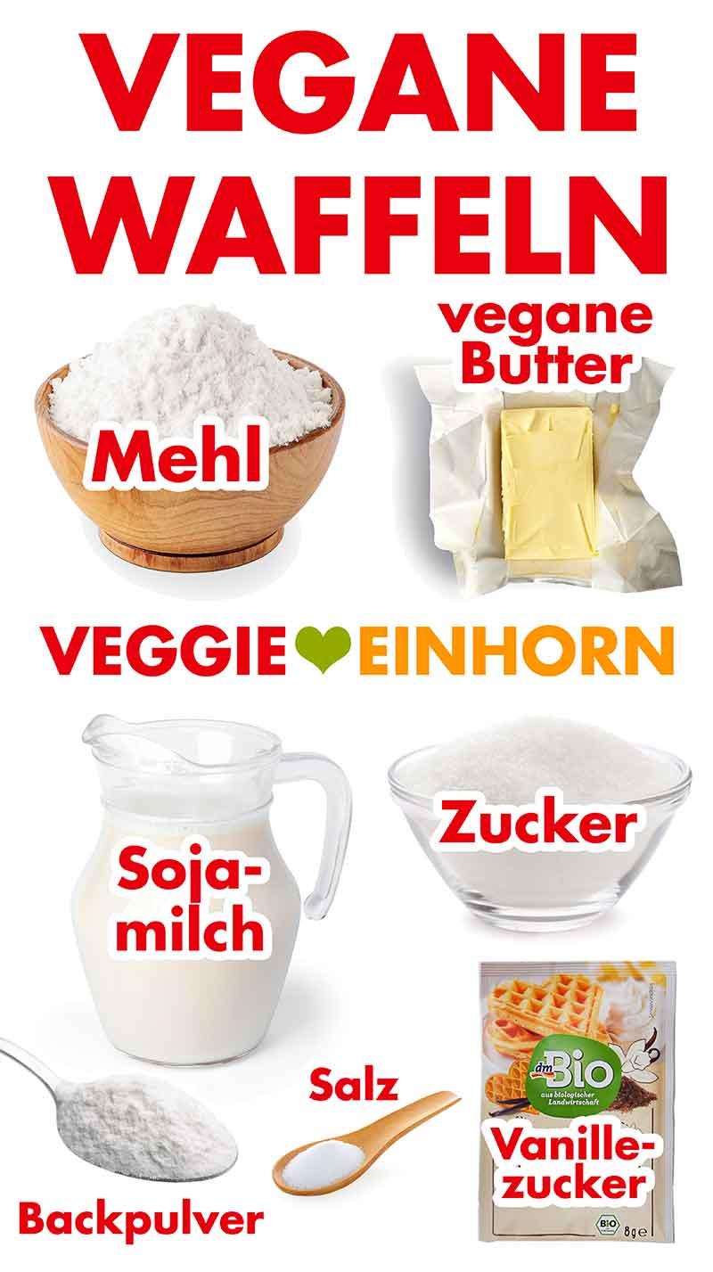 Zutaten für vegane Waffeln